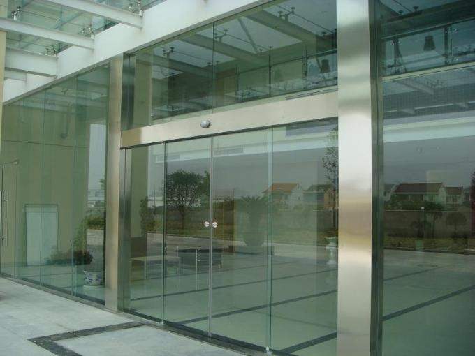 Shopping Center 250kg Automatic Glass Sliding Door With Aluminum Frame