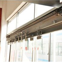 Diaphanous Gass aluminum profile exterior Telescopic Sliding Door OEM Service