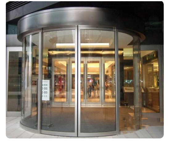 Round Sliding Door Design: Shopping Mall Automatic Curved Sliding Door Operator With