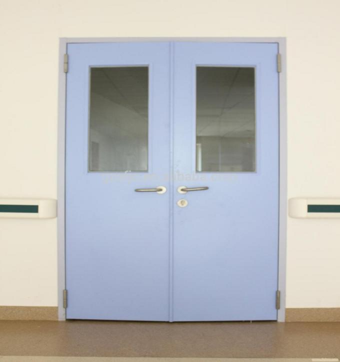 Guangzhou operating room door, hospital surgery room doors, single or double manual airtight swing door for clean room