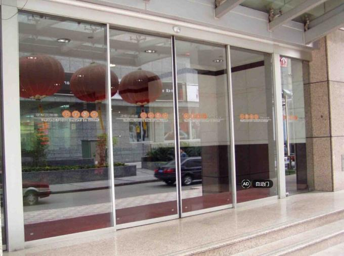 CE Glass Automatic Doors Auto Sliding Door With 4200 Track And Cover Soft Start