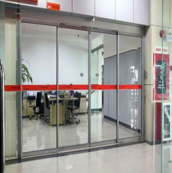 2m 1.8m Rail Cover Automatic Sliding Glass Doors With Press Switch