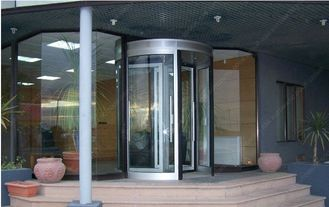 12mm Aluminum Alloy Automatic Revolving Door For Hotel ISO9001