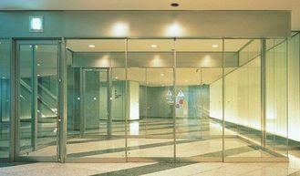 China Electric Slim Frame Automatic Glass Sliding Doors Commercial 75w supplier
