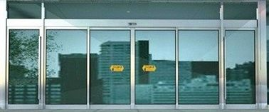 China Aluminum Alloy Motorised Sliding External Doors Automatic Slide Door Drive supplier