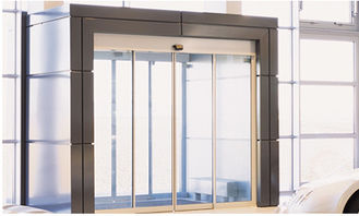China Brown Door Frame Commercial Automatic Sliding Doors With Maintenance Free Motor supplier