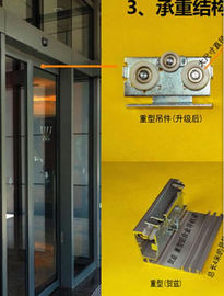 China 420 / 600cm Rail Automatic Glass Sliding Doors Commercial With Selflearning Function supplier