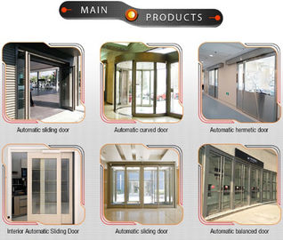 China Adjustable Hold - Open Time Automatic Sliding Door With 75 W Power Supply supplier