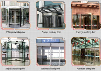 China Glass holder Automatic Glass Sliding Doors With Aluminum Alloy Material W 800mm supplier