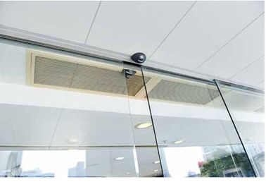 China Microcomputer controller 100W Automatic Glass Sliding Doors 2400*4230mm supplier