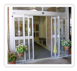 China Four wing Track telescopic leaf sliding glass door leaf weight 300 kg / 2 x 150 kg supplier