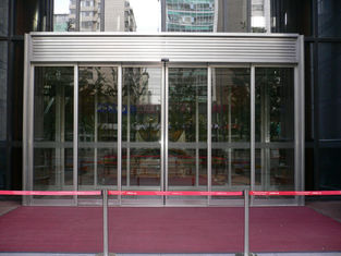 China Diaphanous Gass aluminum profile exterior Telescopic Sliding Door OEM Service supplier