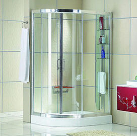 China Automatic Curved interior Home frosted glass frameless shower doors supplier