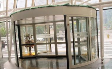 2 Wing Stainless steel  frame Automatic Revolving Door for Hotel / Bank / Airport