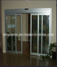 China Silver Aluminum Frame automated Sliding Door Durable Nylon Belt Transmission supplier