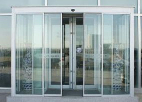Induction motorized sliding doors automatic with frame or
