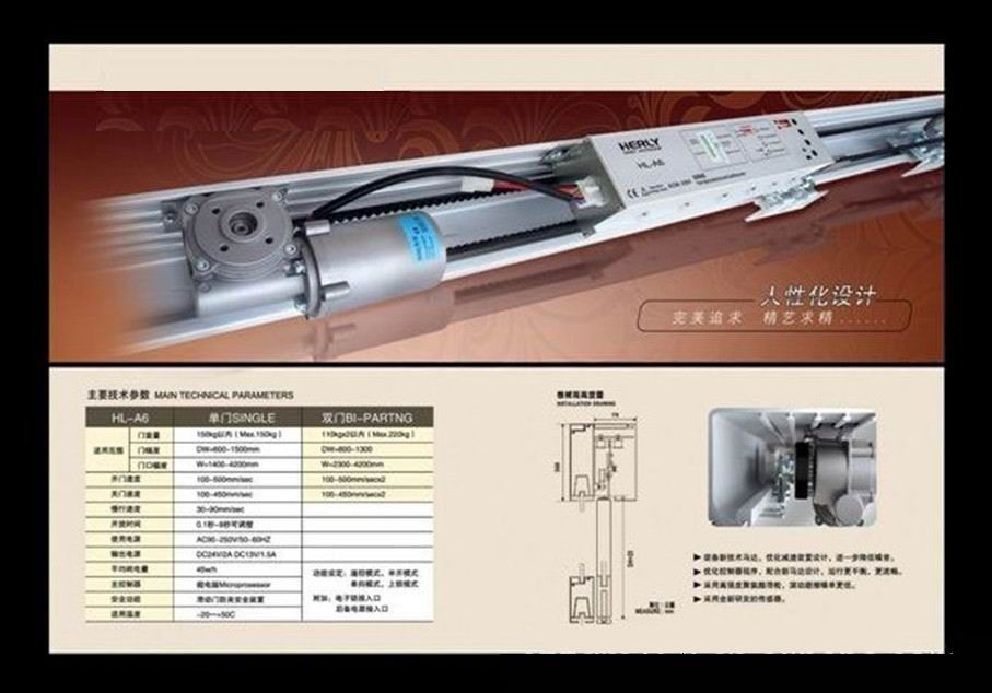 F w automatic sliding door operator for commercial