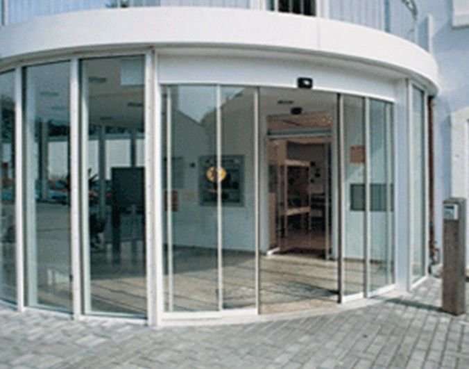Office Building Curved Sliding Doors