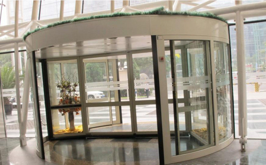 Wing stainless steel frame automatic revolving door for