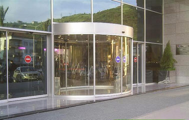 China Full or semi circle Concave or convex version arc door / curved glass doors distributor