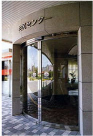 China Round Automatic Curved Sliding Door , hotel auto sliding glass door distributor