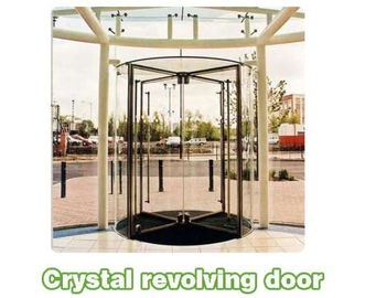 China Shopping center mansion Automatic crane Revolving Door Unit with 3 or 4 wings distributor
